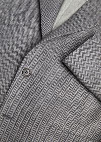 Herringbone Print Wool Blazer, thumbnail 2