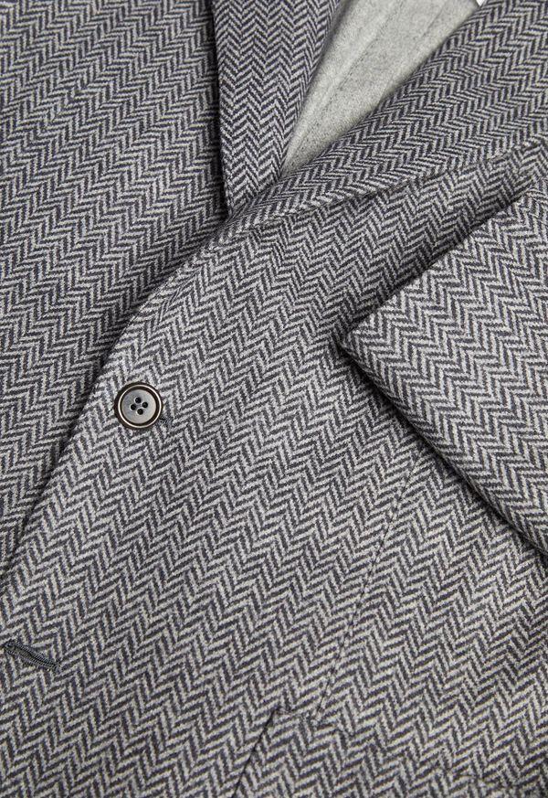 Herringbone Print Wool Blazer, image 2