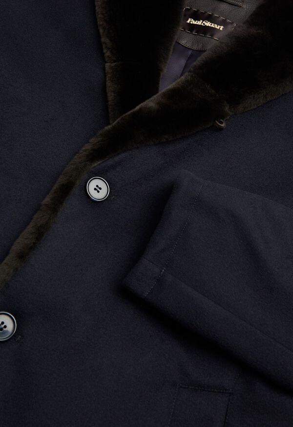 Cashmere Coat with Fur Lapel, image 2