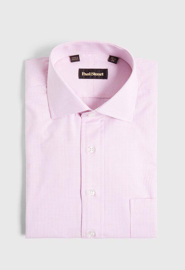 Microcheck Cotton Dress Shirt, image 1
