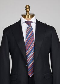 Wool Multi Stripe Tie, thumbnail 2