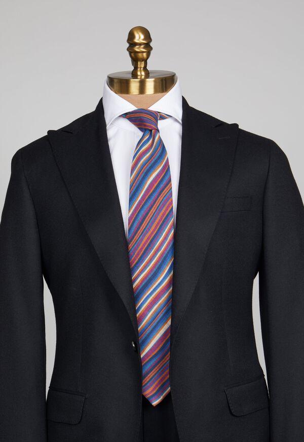 Wool Multi Stripe Tie, image 2