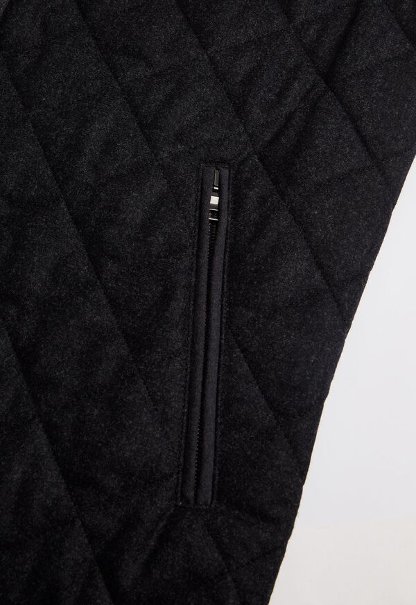 Wool Flannel Quilted Vest, image 3