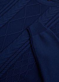 Cotton Aran Cable Crewneck Sweater, thumbnail 2