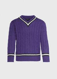 Scottish Cashmere Tennis Sweater, thumbnail 1