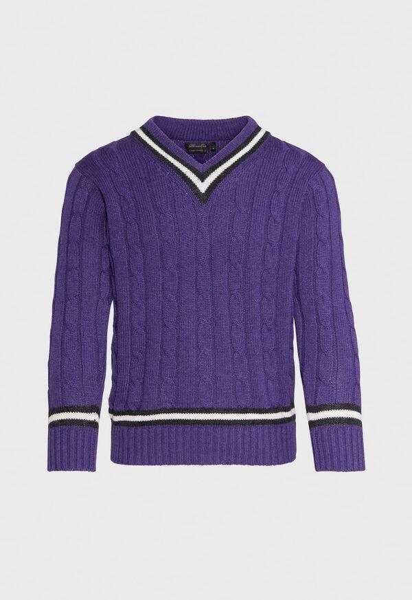 Scottish Cashmere Tennis Sweater, image 1