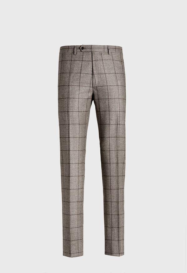 Wool Plaid Classic Shoulder Suit, image 6