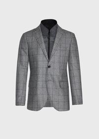 Houndstooth Travel Jacket and Built-in Vest, thumbnail 1