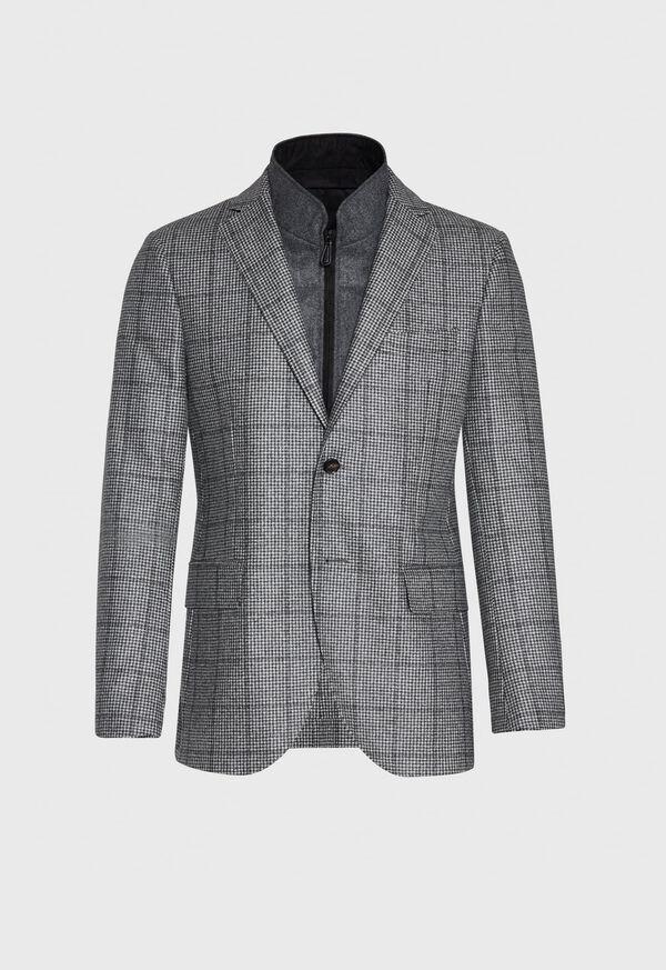 Houndstooth Travel Jacket and Built-in Vest, image 1