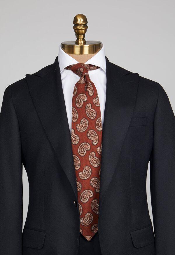 Silk Paisley Unlined Tie, image 2