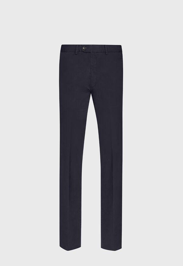 Navy Cotton Stretch Pant, image 1
