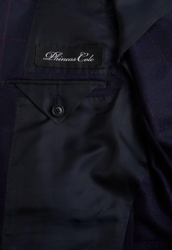 Navy and Rust Windowpane Suit, image 4