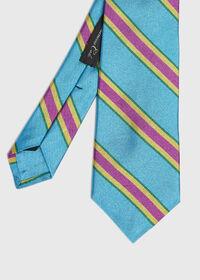 Regimental Stripe Silk Tie, thumbnail 1
