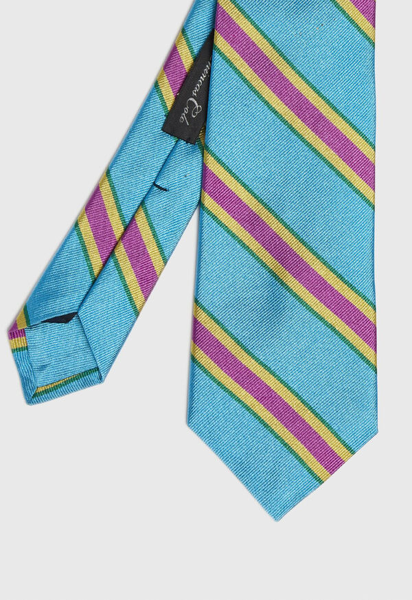 Regimental Stripe Silk Tie, image 1