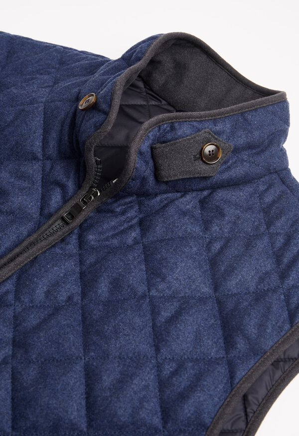 Merino Wool Flannel Quilted Vest, image 2