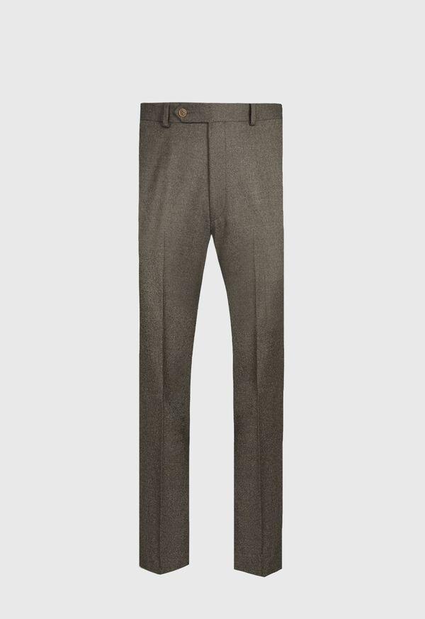 Super 120s Sage Flannel Trouser, image 1
