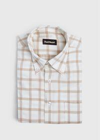Windowpane Brushed Flannel Sport Shirt, thumbnail 1