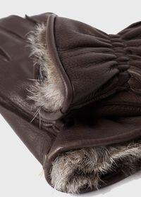 Deerskin Glove with Rabbit Fur, thumbnail 2