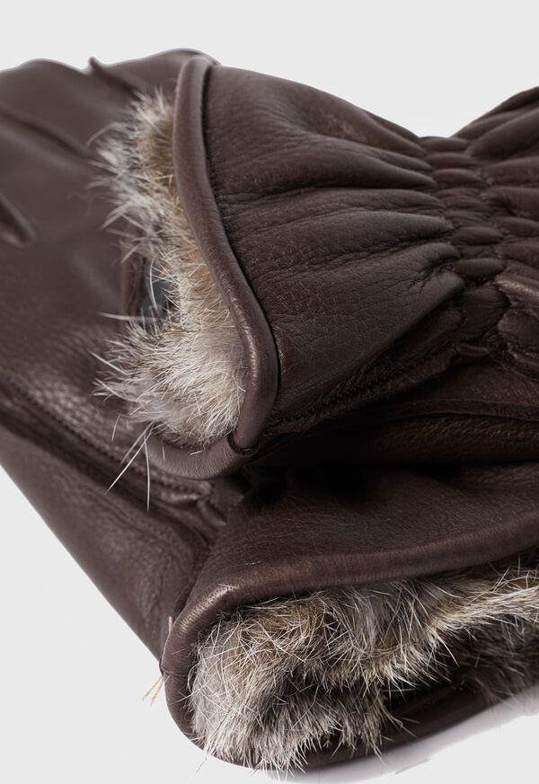 Deerskin Glove with Rabbit Fur, image 2
