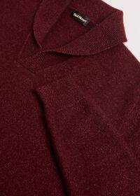 Cashmere Blend Shawl Collar Pullover Sweater, thumbnail 2