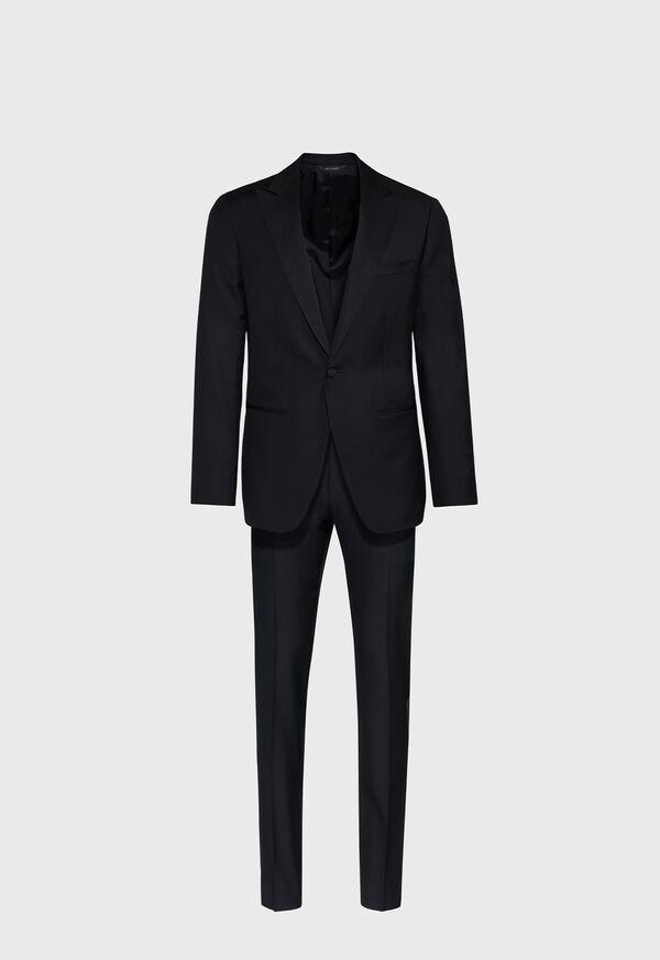 Super 110s Wool Peak Lapel Tuxedo, image 1
