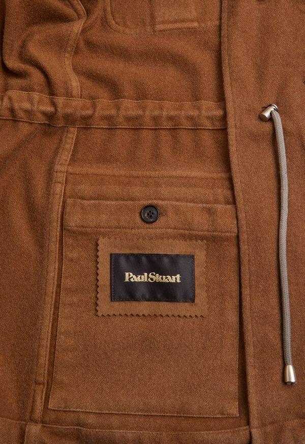 Garment Washed Cashmere Safari Jacket, image 3