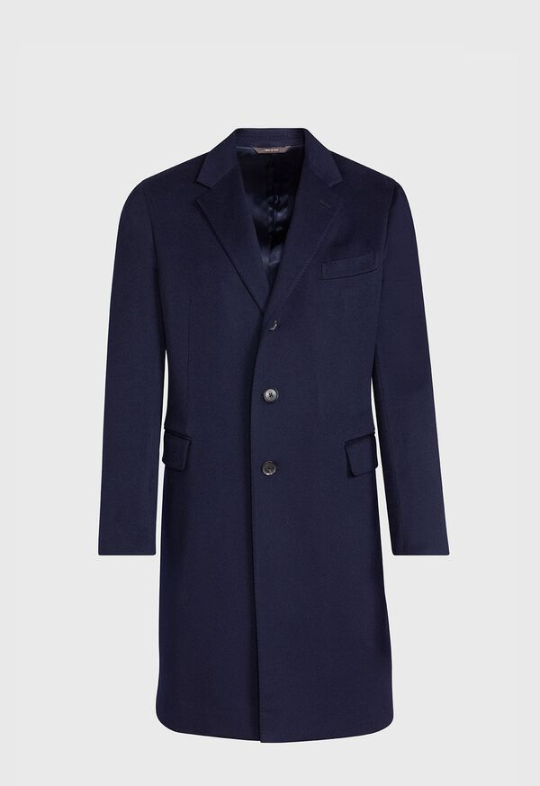 Navy Cashmere Classic Overcoat, image 1