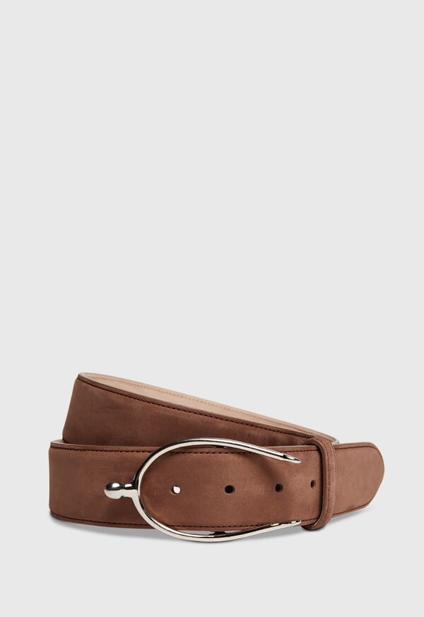 Nubuck Belt with Silver Buckle