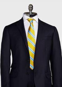 Regimental Stripe Silk Tie, thumbnail 2