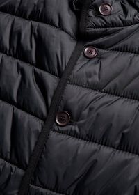 Nylon Button Front Quilted Vest, thumbnail 2