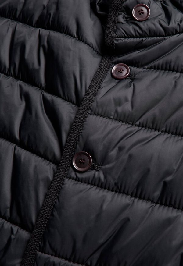 Nylon Button Front Quilted Vest, image 2