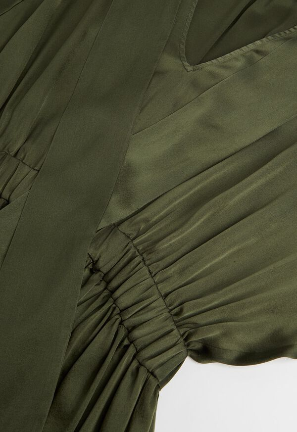 Washed Silk Kimono Sleeve Dress, image 2