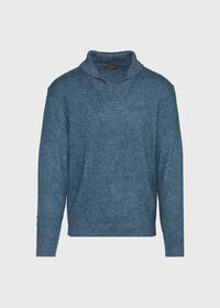 Cashmere Blend Shawl Collar Pullover Sweater, thumbnail 1