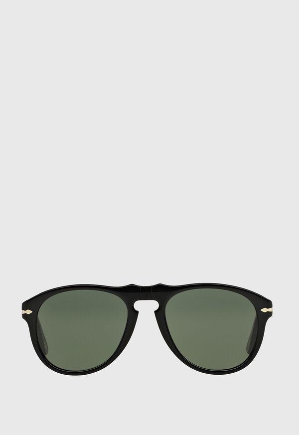 Persol's Black Aviator Sunglasses, image 1