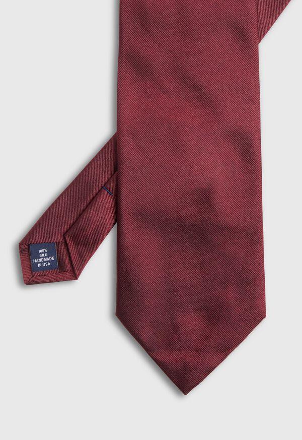Burgundy Hunter Silk Tie, image 2