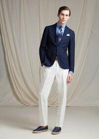 White Linen Blend Trouser, thumbnail 5