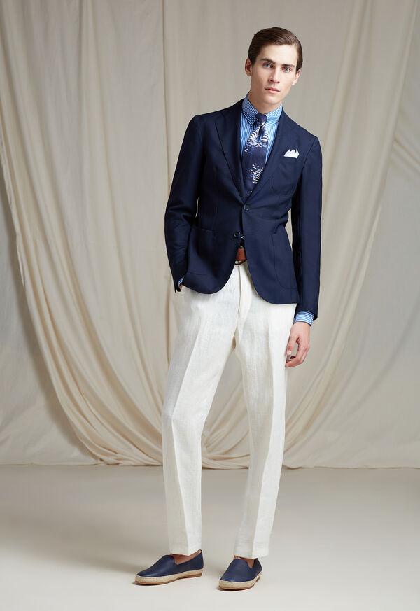 White Linen Blend Trouser, image 5