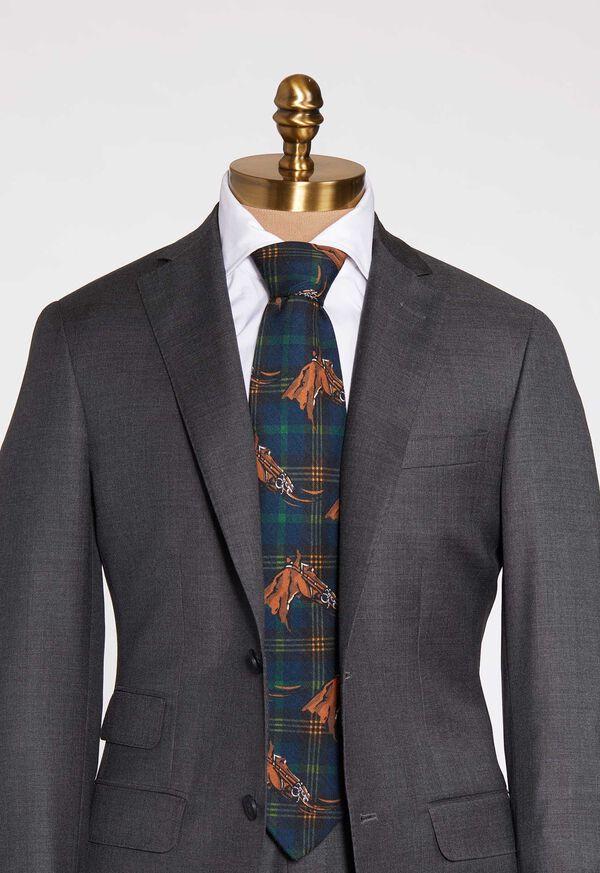 Equestrian Print Tie, image 2