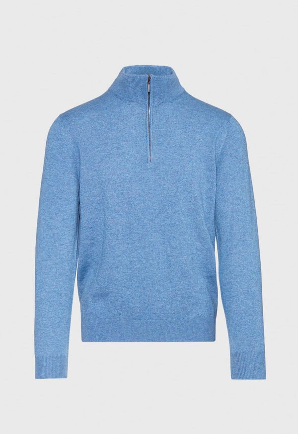 Cashmere Quarter Zip Mock Sweater, image 1