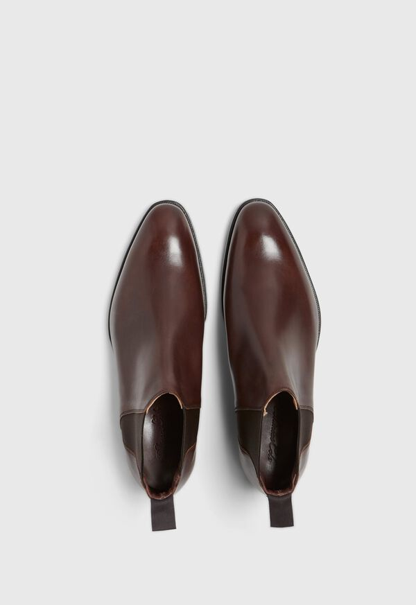 Chestnut Leather Half Chelsea Boot, image 2