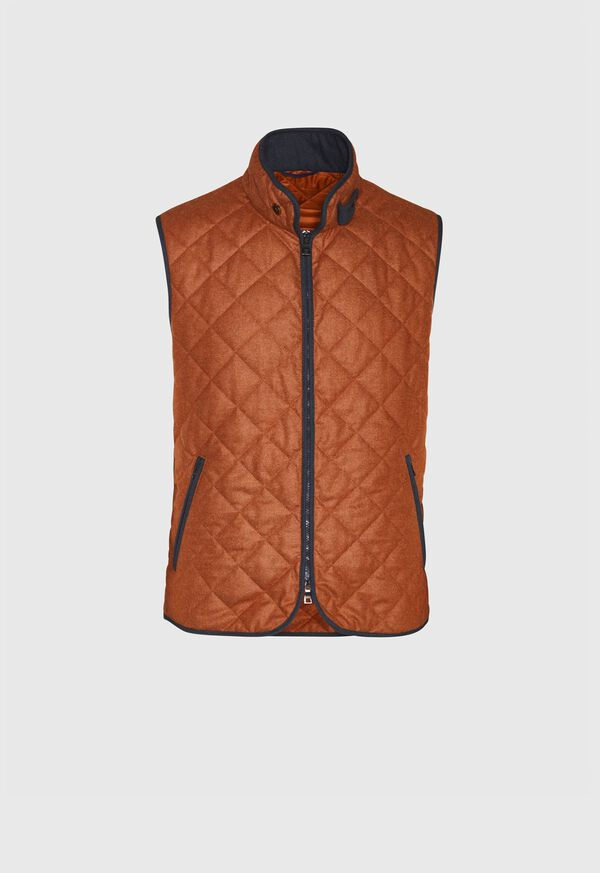 Wool Flannel Quilted Vest, image 1