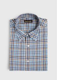 Lightweight Brushed Flannel Plaid Sport Shirt, thumbnail 1