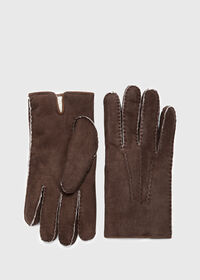 Shearling Suede Gloves, thumbnail 1