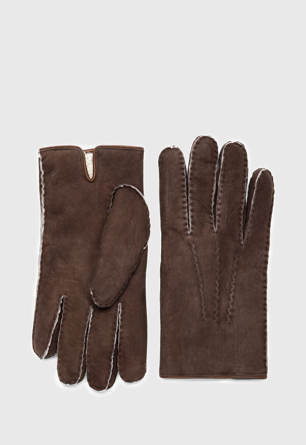 Shearling Suede Gloves, image 1