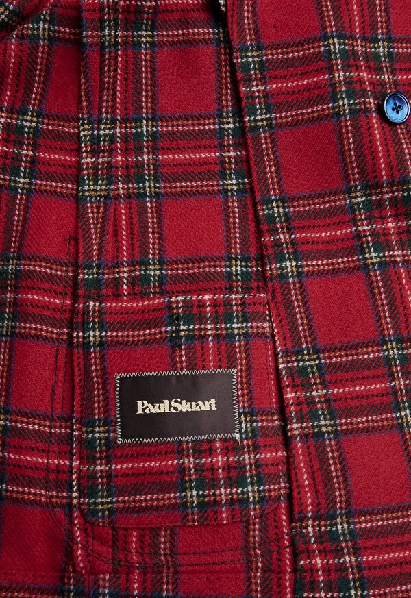 Wool Red Tartan Double Breasted Jacket, image 4
