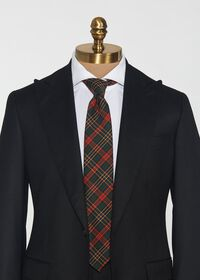 Green & Red Tartan Wool Tie, thumbnail 2