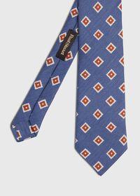 Silk And Linen Medallion Tie, thumbnail 1