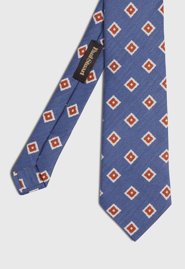 Silk And Linen Medallion Tie, image 1