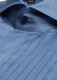 Pleated Bib Front Tuxedo Shirt, thumbnail 2