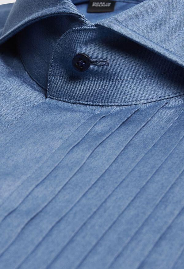Pleated Bib Front Tuxedo Shirt, image 2